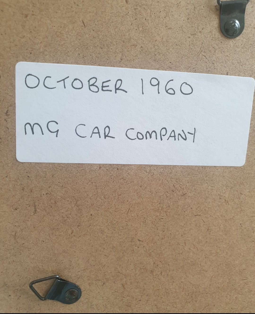 1960 Original MG Framed Advert For Sale (picture 2 of 2)