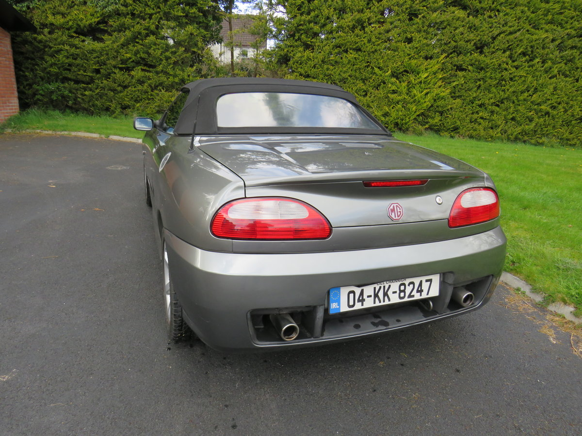 2004 MG TF 135, Metallic Grey, Black leather For Sale (picture 2 of 6)