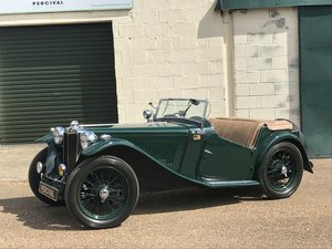 Picture of 1946 MG TC, dark green with tan interior, SOLD SOLD
