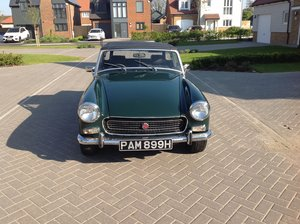 1970 Midget 1275 BRG , Black leather .px/swap MGB GT