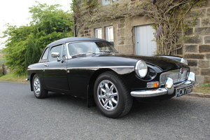 1968 MGB Roadster With Overdrive , Original factory black SOLD