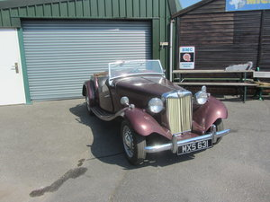 MG TD 1951 BLACK PLATE CALIFORNIA  SOLD