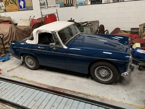 MG Midget for sale 1967/F MkIII 1275cc in Basilica Blue For Sale