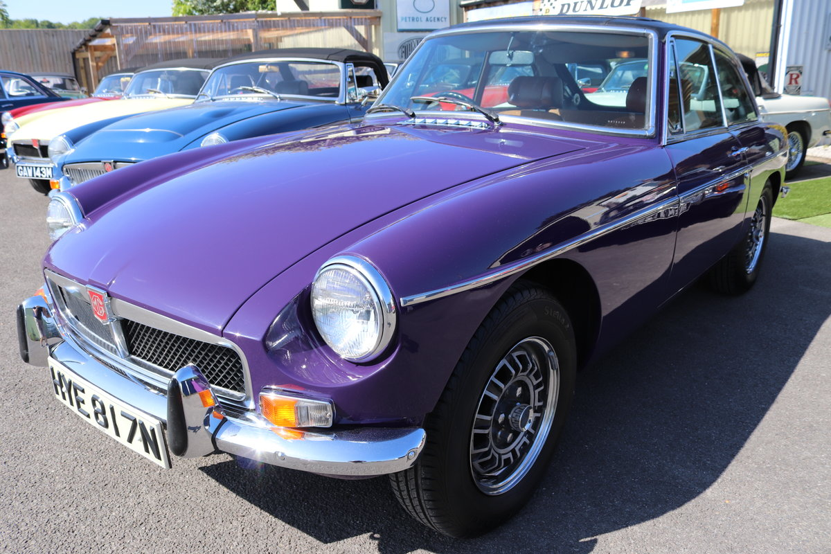 1974 Factory MGB GT V8 in Aconite, 34000 miles from new For Sale (picture 1 of 6)