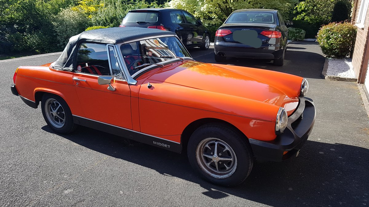 1979 MG Midget Classic, Low Mileage, FSH, 12 months MOT SOLD (picture 1 of 5)