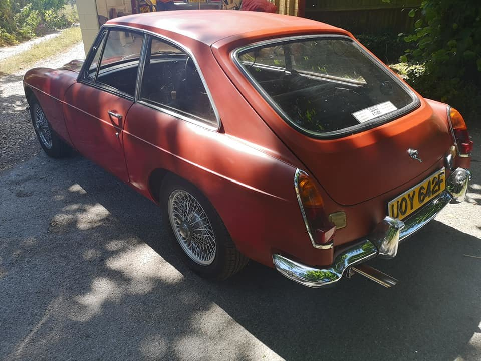 1968 MG C GT 44k miles, very solid runner for finishing SOLD (picture 2 of 6)