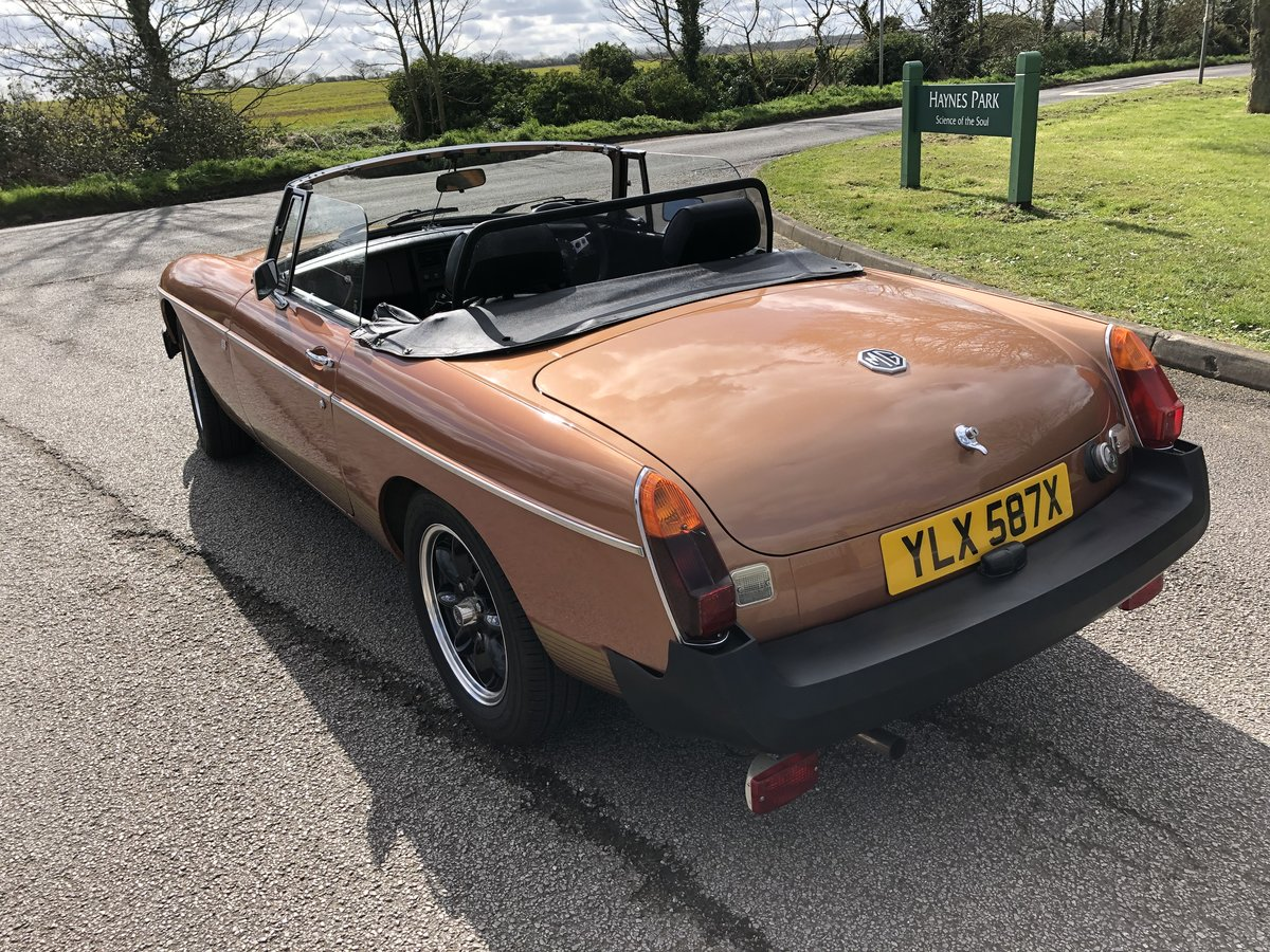 1981 MGB Roadster LE - Good Condition For Sale (picture 2 of 6)