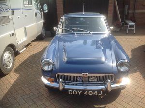 1969 MGC GT In Mineral Blue. 3.0L 6 CYL