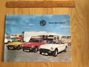 1979 MG Midget,Mgb brochure  For Sale