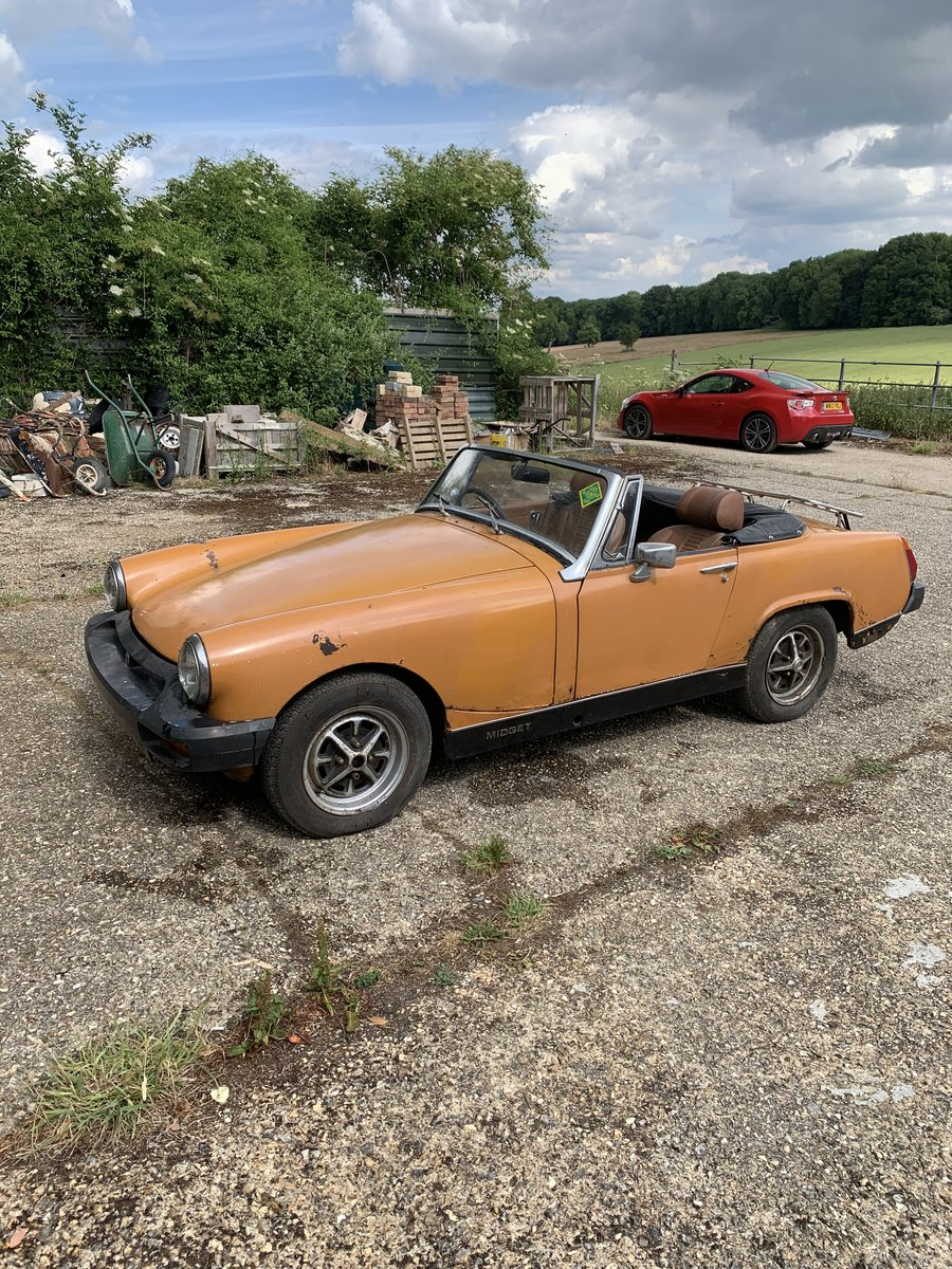 1975 MG Midget starts and runs well For Sale (picture 1 of 6)