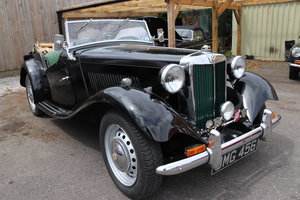 1951 MG TD, UK Car, University Motors, 5 Speed. For Sale