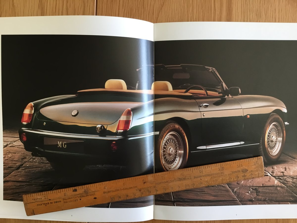 1992 MG RV8 brochure For Sale (picture 1 of 2)