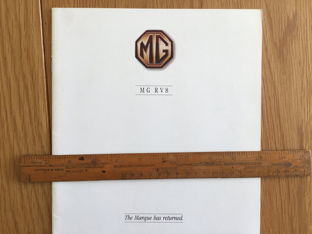 1992 MG RV8 brochure For Sale (picture 2 of 2)
