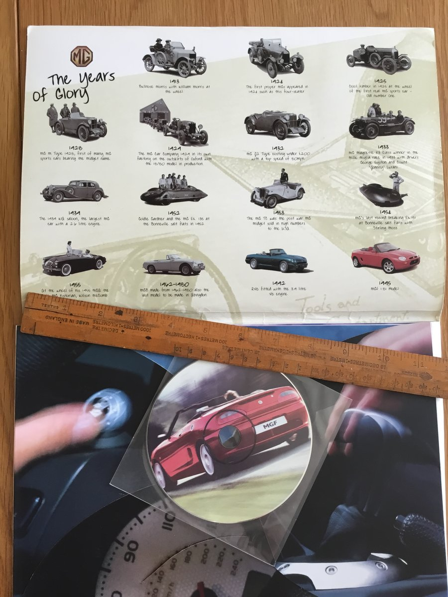 1995 MGF brochure  For Sale (picture 2 of 2)