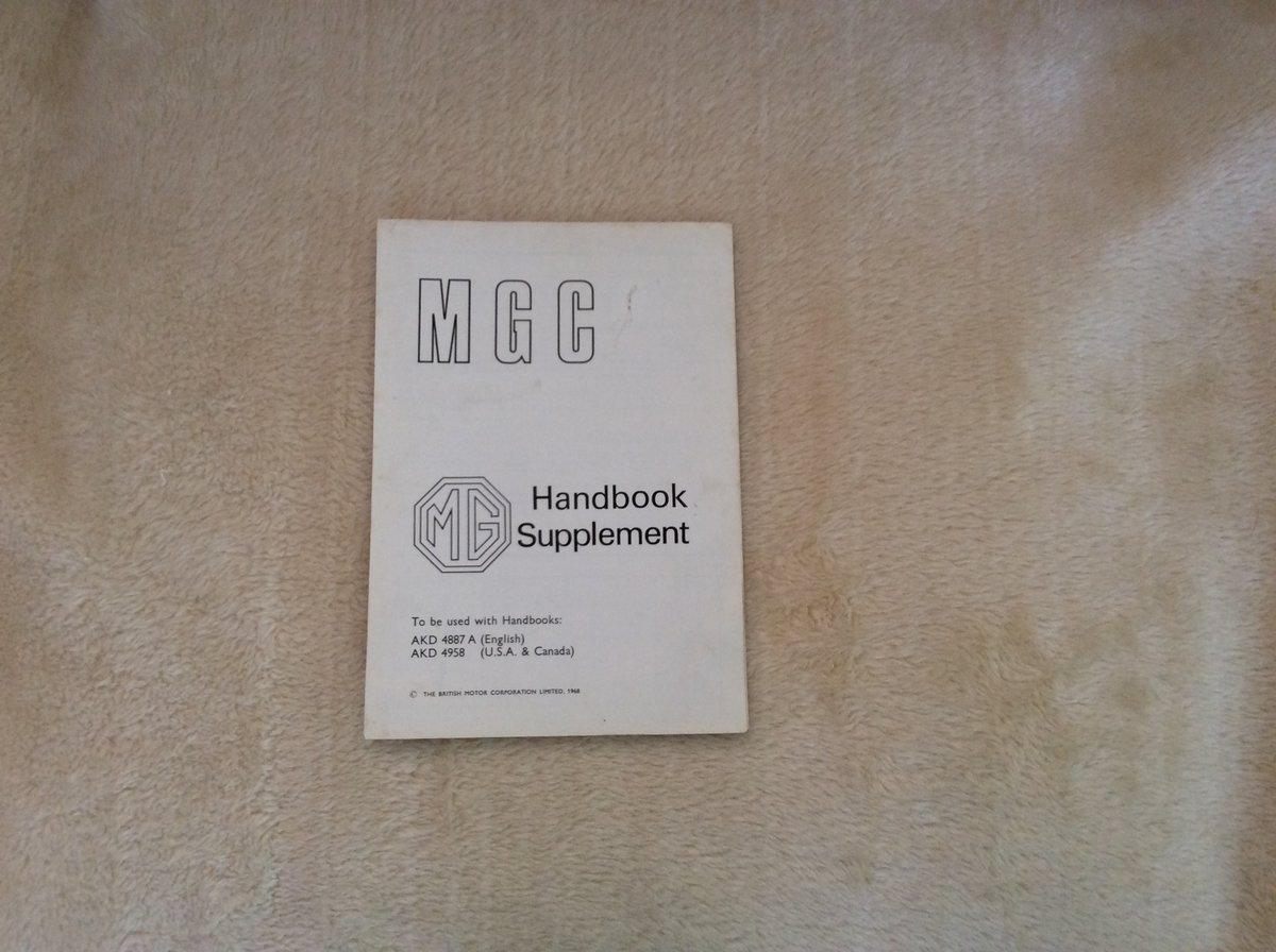 MGC HANDBOOK PLUS RARE SUPPLEMENT For Sale (picture 2 of 2)
