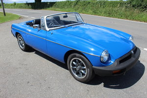 1977 MGB Roadster 1800 cc With Overdrive  SOLD