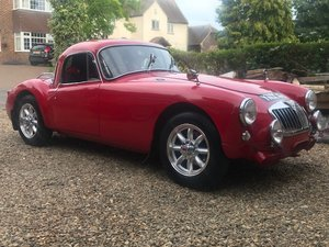 MGA historic rally car
