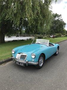 1956 Glacier Blue MGA 1500 Roadster