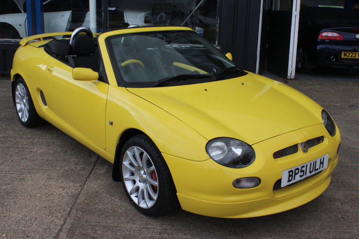 2001 MGF TROPHY 160,LOWMILEAGE,CHROME HOOPS,NEW HEADGASKET,RAC For Sale (picture 1 of 6)