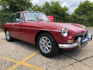 1973 MGB GT. Damask Red. Chrome Bumper. Fast road spec