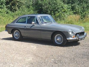 MG B GT, 1972, Grampian Grey
