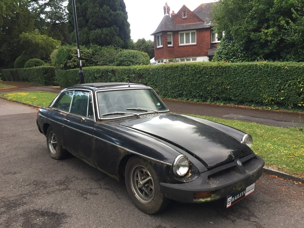 1976 MG B GT Coupe, Gentleman Owned For 22 Years, For Restoration For Sale (picture 1 of 6)