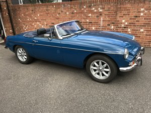 MGB Roadster - Teal Blue - 12 Months MOT