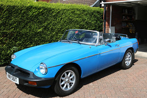 MGB Roadster 1978 Pageant Blue, Black Leather