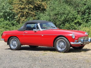 MG B Roadster,1971, Red, Power Steering For Sale