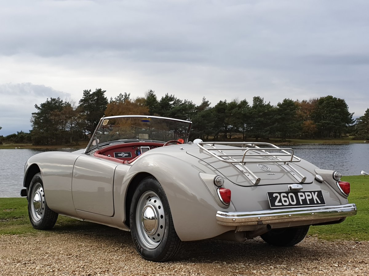 Original UK RHD 1959 MG A 1600 Roadster with great history For Sale (picture 2 of 6)