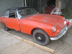 1964 Mk1 MGB Roadster for full restoration or reshell