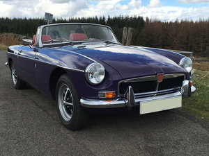 1974 Absolutely Gorgeous and Rare Aconite Purple MGB