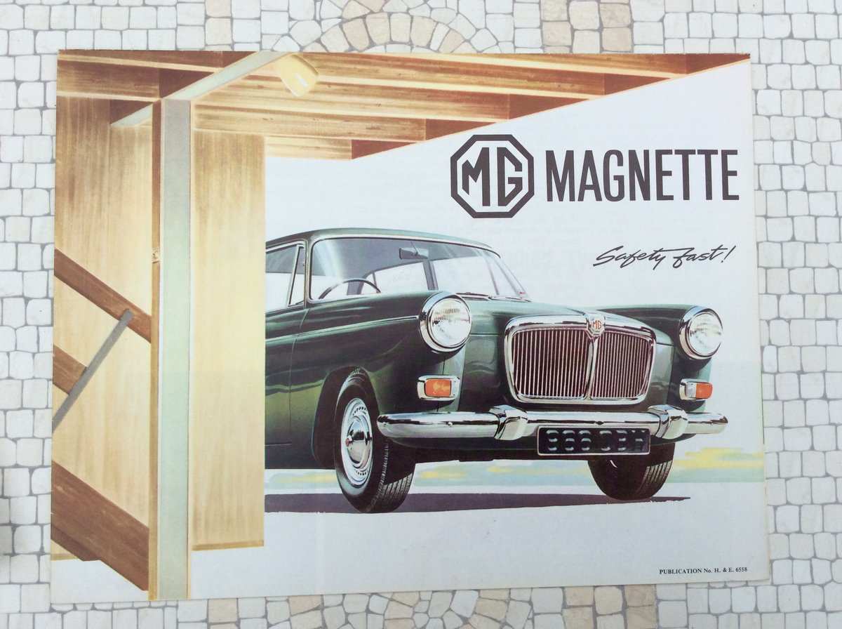 MG Magnette Sales Brochure Excellent condition For Sale (picture 1 of 1)