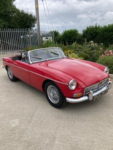 1966 MGB Roasdster in Tartan Red . For Sale