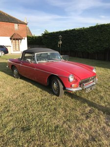 1965 Early Mgb roadster pull handle
