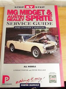 MG MIDGET + HEALEY SPRITE OWNERS MANUAL AND WORKSHOP MANUAL