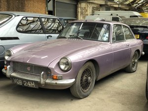 1969 MGB GT barn find