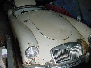 1959 Original MGA convertible for restoring