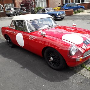 MGB Fia race car