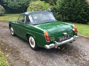 Lovely British Racing Green MG Midget