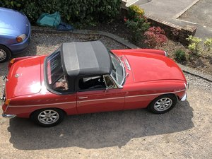 MGB roadster , lovely in red  from hcc