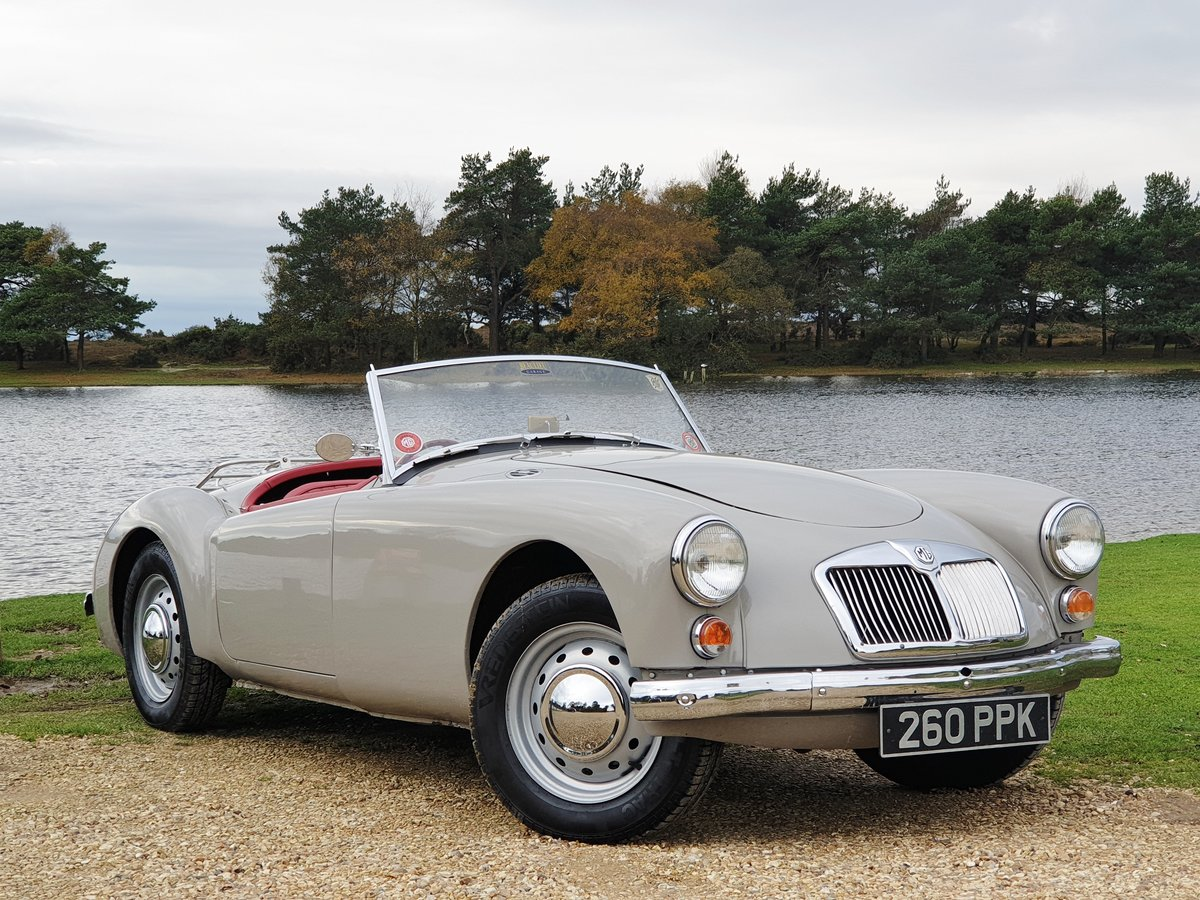 Original UK RHD 1959 MG A 1600 Roadster with great history For Sale (picture 1 of 6)