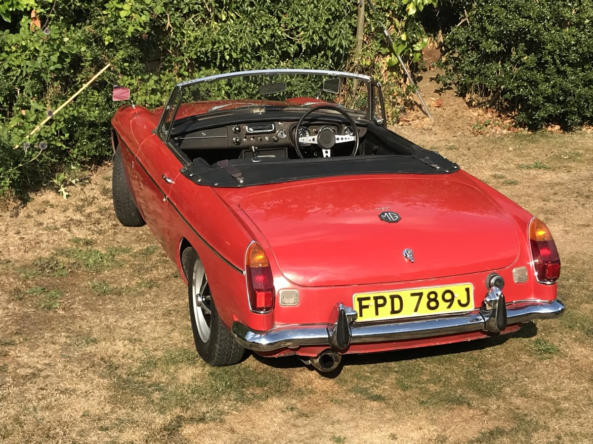 1971 MGB Roaster Automatic.  One Owner From New For Sale (picture 1 of 6)