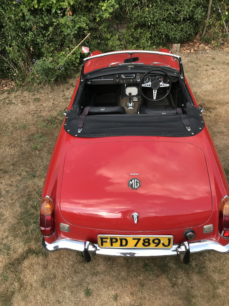 1971 MGB Roaster Automatic.  One Owner From New For Sale (picture 2 of 6)