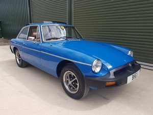 1975 MG MGB GT in Tahiti Blue with tan trim, full sunroof For Sale