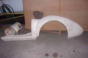 1956 thru 1962 MGA Roadster fiberglass rocker/rear fender