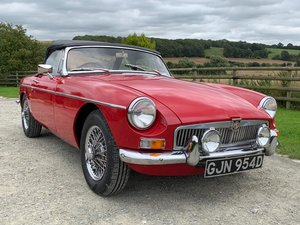 Lovely Red 1966 wire wheel MGB Roadster for Sale in Hfds