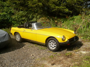 mgb roadster yellow low mileage 37000 miles