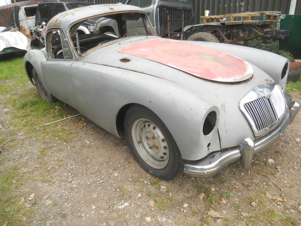 1957 MGA Coupe US Import Rust Free for Restoration  SOLD (picture 2 of 6)
