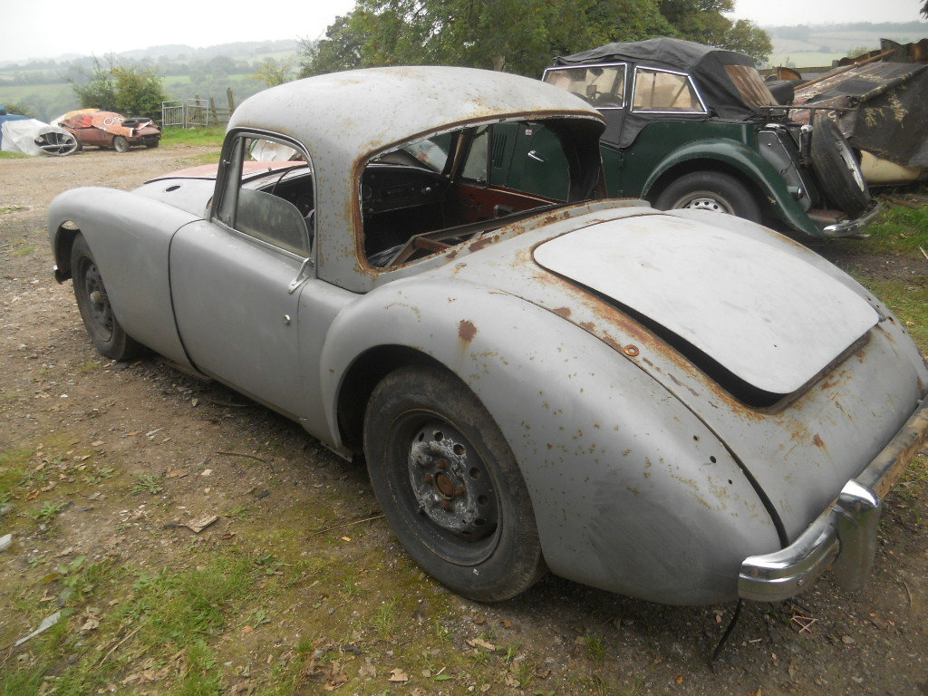 1957 MGA Coupe US Import Rust Free for Restoration  SOLD (picture 3 of 6)